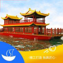 供应广东广州8米电动画舫船 水上特色餐饮船 水库观光船 主题旅馆住宿房船