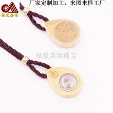 不锈钢吊坠圆形可旋转黄铜项链代客设计加工嘎乌盒固件首饰定制厂
