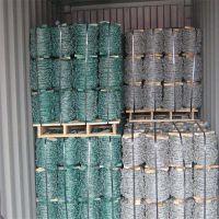 绿皮铁线 带刺防护网 圈山刺丝
