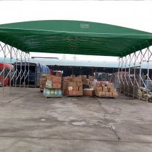 郑州推拉蓬伸缩蓬折叠蓬防雨棚膜结构车棚厂家