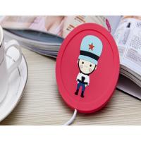 USB发热软胶杯垫 动漫卡通保温杯垫 硅胶环保杯垫订做厂家
