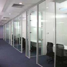 供应深圳嘉里建设广场铝合金玻璃隔断 铝合金百叶玻璃隔断工程