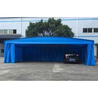 武汉中盛彩篷低价定制户外遮阳棚工地厂蓬伸缩折叠可推拉式帆布帐篷