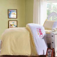 西山区幼儿园三件套,棉被子厂家,纯色被褥批发,,纯棉120*150六件套绣花,学生床上用品采购,厂家
