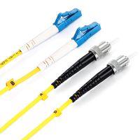 胜为厂家直销电信级单模光纤跳线 单模双芯LC-ST尾纤3米 量大从优 IDC光纤跳线 FSC-109