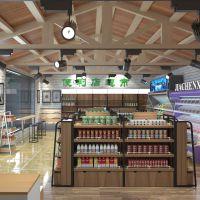 便利店超市货架展示架双面中岛柜饰品店母婴店钢木展架100