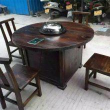 批发火锅桌椅-延安火锅桌椅-实木碳化家具(查看)