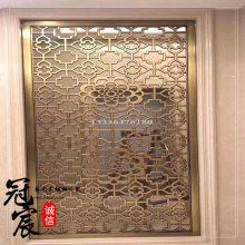 经典款 矩形管焊接不锈钢红古铜屏风 铜做旧不锈钢花格精心制作
