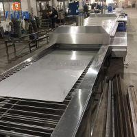 先泰自主研发网带式XT-HF1086不锈钢板镀钛前超声波除油清洗机