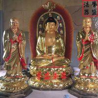佛教玻璃钢大佛像 释迦牟尼佛 阿南迦叶