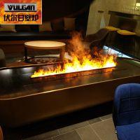 厂家直销伏尔甘高端3d假火焰 仿真雾化壁炉电壁炉led仿真火焰 3D雾化壁炉