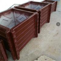 市政道路仿木花箱 护栏 景观工程水泥花桶