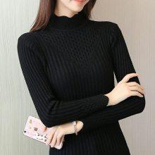 大码女装毛衣女2019新款韩版宽松套头针织衫胖mm打底衫