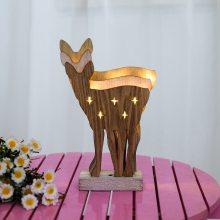 木制圣诞麋鹿装饰灯饰晚会生日婚礼装饰发光木摆件古董
