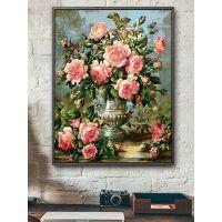 数字油彩画diy油画花卉风景客厅餐厅植物填色数码手绘装饰画