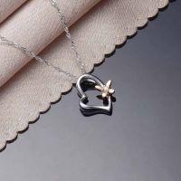 厂家直销 s925银镶钻石吊坠韩版时尚百搭银饰品爆款批发