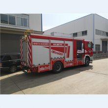 采用德国曼恩商用车股份公司生产的TGM18.290消防车底盘改装而成的AP40型压缩空气泡沫消防车