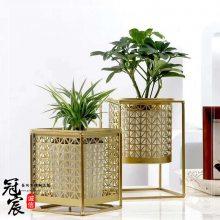 定做酒店园林不锈钢花钵 古铜色花箱花钵组合装饰直接工厂