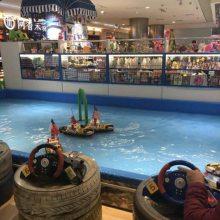 新款水上游乐玩具夜市方向盘遥控船厂家直销高速赛艇广场摆摊设备彩盒