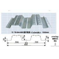 温州0.8mm厚YX76-344-688型开口楼承板生产厂家