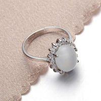 厂家直销 925银仿猫眼石戒指 开口戒指 简约时尚韩版戒指