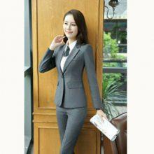 广东河源工作服套装 女式西服厂家直销 定制职业装定做 女小西装图片