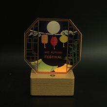 广州牛礼中秋节礼品小夜灯实木led灯起夜灯智能产品氛围灯定制