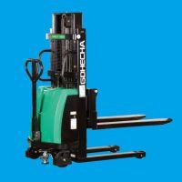 厂家直销合叉GDHECHA系列1-2吨人力半电动堆高机 仓储电动叉车 手推电升叉车