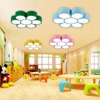 幼儿园灯饰卡通教室大厅灯主题乐园led灯具彩色花朵创意灯