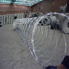 围墙防盗网 高铁刀片刺绳 机场刀片刺绳