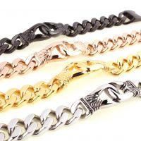 日韩流行 时尚不锈钢钛钢个性麻花手链  新款  ebay热销