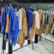广州品牌折扣女装罗纹袖口大面积印花针织连衣裙【赢画】街头风实体女装直播货源