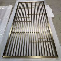 定做中式不锈钢屏风 林方不锈钢 佛山屏风专业加工厂 可电镀或水镀