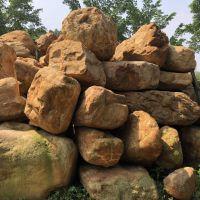 黄蜡石价格 杭州园林工程石 驳岸景石 黄蜡石 自然景观石