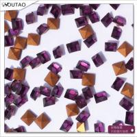 方钻生产厂家 3*3深紫尖底方钻 玻璃异形水钻 异形方钻饰品配件