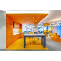 """色彩""""点亮""""空间   蓝橙办公室装修设计-应科装饰"""