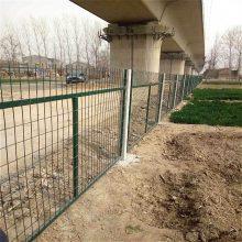 城际铁路防护栅栏护栏网 浸塑防护栏 绿色铁路隔离栅