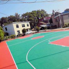 丙烯酸羽毛球场 丙烯酸篮球场施工报价 运动场硬地丙烯酸羽毛球场制作
