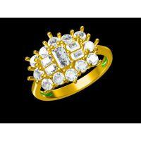 白铜镀银仿古男款戒指定制 一元戒指 —宝石饰品定制厂家