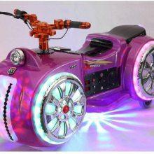 新款未来战车儿童幻影摩托车 心悦太子碰碰车哪个生意好