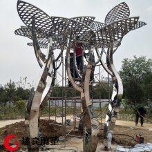 不锈钢大树大树广场金属创意景观大树雕塑加工定做厂家