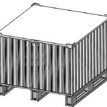 物流周转箱 金属铁箱定做可回收箱子可拆卸收纳箱组装式镀锌板箱铁为板箱