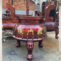 圆形平口铸铁香炉 广东肇庆念佛堂道观香炉供应商