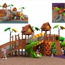 进口仿木质树屋滑梯 木质拓展攀爬滑梯 木质滑梯定制 不锈钢滑梯组合