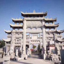 贵州乡镇单门石材门牌楼效果图