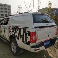 江淮帅铃t8皮卡车后尾箱加装平顶高盖后斗盖铁皮棚车厢顶盖改装