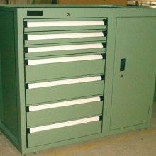 双开门工具柜 抽屉式储物柜 重型五金零件存储柜 冷轧板车间工具铁皮柜鑫利达常规存储柜