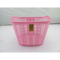 厂家直销 自行车彩色车篮 塑胶车筐 电动车塑料菜篮子