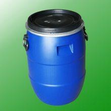 山东华辰60升抗菌剂抱箍塑料桶 60L蓝色除垢剂化工桶