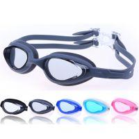 防水防雾高 清泳镜男 女大框游泳眼镜 一体式硅胶 泳镜